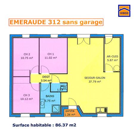 Plans de construction de maison individuelle vend enne - Plan maison cuisine ouverte ...