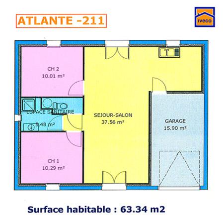 Plan De Maison  Chambres Plan Au Sol Plan De Maison De Plainpied